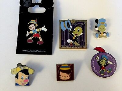 Disney Lot Of 6 Disney Pins From Pinocchio New, Old And LE