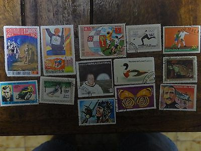 13x Mixed EQUATORIAL GUINEA Stamps