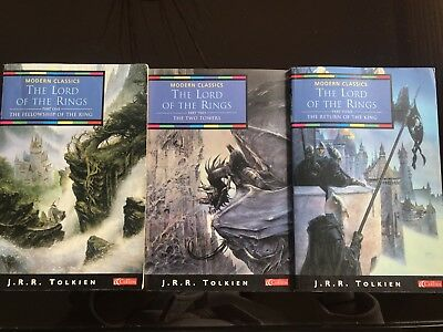The Lord Of The Rings Trilogy Part 1,2&3 Paperback Books By J.R.R Tolkien