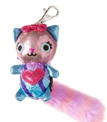 Smiggle Fluffy Shimmer Character Keyring Adorable Cute Great Gift 🎁 BNWT