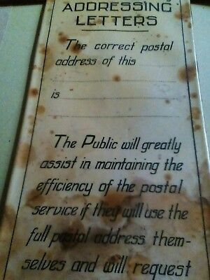 Preowned rare original post office notice