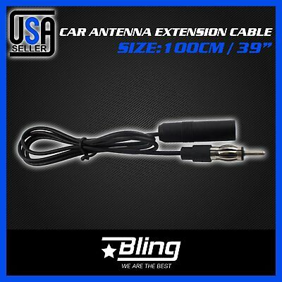 Universal Car 100cm Male to Female Extension Radio AM/FM Antenna Adapter Cable