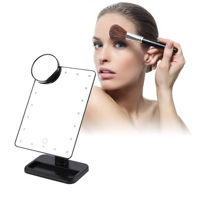 20 LED Make Up Spiegel Licht Kosmetikspiegel Touch Screen Make-up-Utensilien #l