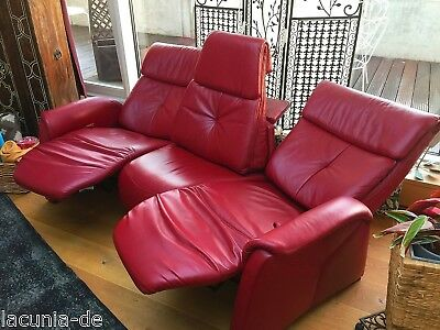heimkinosofa relax sofa zweiersofa echt leder in rot hocker top eur 10 50 picclick de. Black Bedroom Furniture Sets. Home Design Ideas