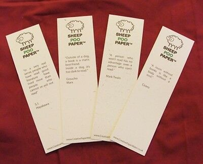 SheepPooPaper™ Bookmarks - packs of 4 (with quotes)