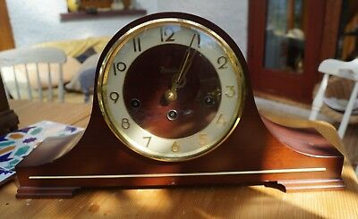 Hermle PRESIDENT Westminster chime mantel clock.SEE VIDEO