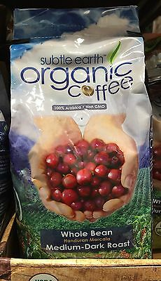 Subtle Earth Organic Coffee Whole Bean Medium-Dark Roast 100% Arabica 1kg