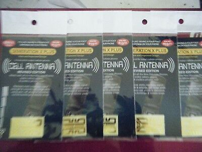 5 x Mobile phone signal boosters. Cell antenna by Generation X for iphone, nokia
