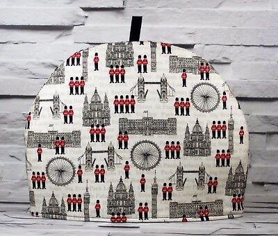 Tea Cosy London Guardsmen Palace Quilted Handmade  Jo Sews Crafts Tea Pot Cover