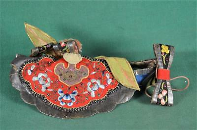 Vintage Chinese Silk Hat With Lots Of Decoration  (V11)
