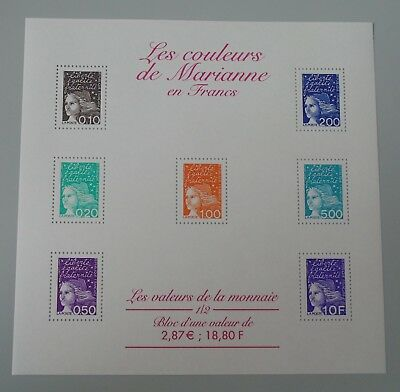 France 2001 bloc 41 neuf luxe ** BF 41 cote 7 euros