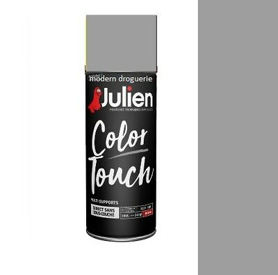 Aerosol Bombe Peinture Gris Titanium Mat 400 Ml Julien Color Touch Tous Supports