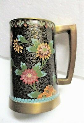 Handsome Mid To Early 20Th Century Chinese Cloisonne Stein Or Mug Fine Condition