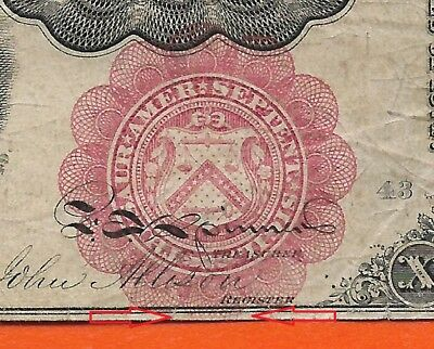 Fr 1266 ERROR FIFTH  Issue 10 Cent Fractional Currency RED SEAL below ORDER