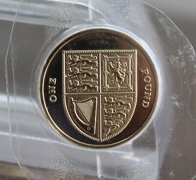 2015 Royal Shield of Arms One Pound £1 Coin - BU- 5th Portrait (Unreleased)