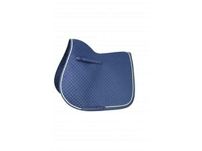 HyWITHER Diamond Touch Saddle Pad - Navy - Cob/Full - Horse Saddle Covers