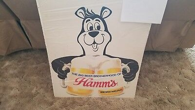 Hamms beer bear sign