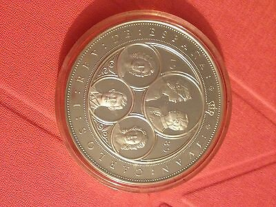 1989 spain 5oz silver coin no coa box