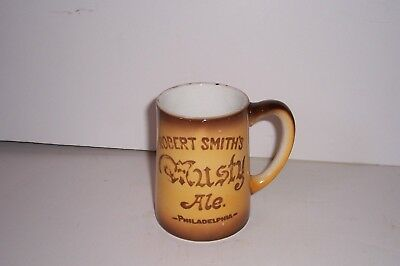 Vintage Robert Smith's Musty Ale Beer Mug Philadelphia Chester Hotel China