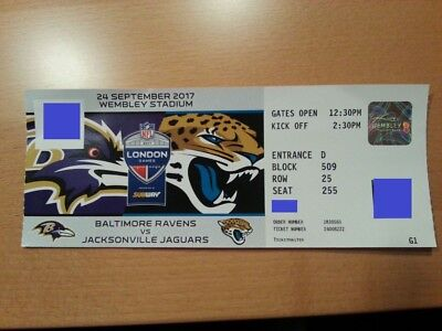 2 tickets karten nfl london jaguars ravens eur 16 00 picclick de. Black Bedroom Furniture Sets. Home Design Ideas