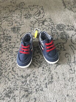 New Baby Boy Blue Booties Boots Shoes Age 9-12 Months
