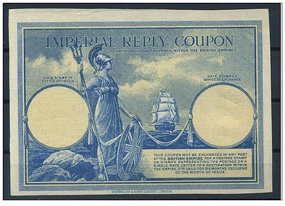 Imperial Reply Coupon Proof - 1927 - Extremely Rare - Waterlow & Sons - W/o Imp
