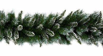 Natural Christmas Garland Decoration Snow Tip To decorate yourself wired garland