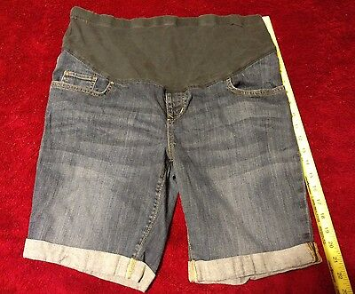 Good Pre-owned Condition OLD NAVY MATERNITY Size 14 Denim Jean Shorts 5 Pockets
