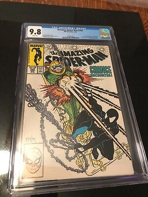 Amazing Spiderman 298 9.8 cgc first McFarlane art Wht Page beautiful