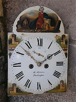 13x18 inch 8DAY c1830 LONGCASE  CLOCK dial + movement