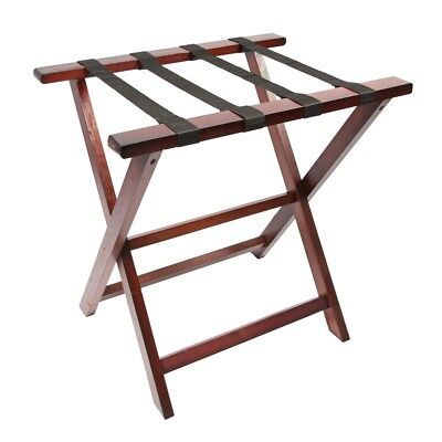 Woodluv Pine Wood Foldable Luggage Rack Hotel Bedroom Suitcase Stand