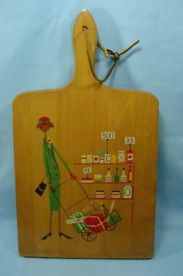 Kittens Vintage 1980 Black Americana Food Cutting Board Nevco