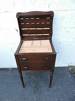 Mahogany Sewing Table Side End Table Nightstand by Caswell-Runyan Co. 8000
