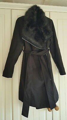 New Look black maternity wrap coat size 12. Never Worn!