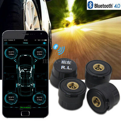 Bluetooth 4.0 TPMS Car Tire Pressure Monitoring Alarming External Sensor Viecar