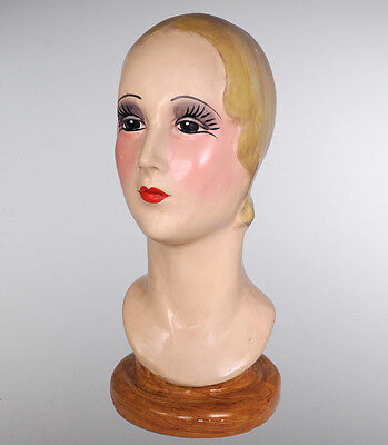 1920's Hand Painted Mannequin Head - Display - Katherine's Collection 28-28332