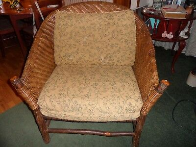 Old Hickory Shelbyville In Wicker Chair  ESTABLISHED 1899