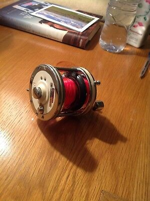 Vintage Garcia Mitchell 602A Sea fishing Multiplier Reel,with Line,Reel clamps.
