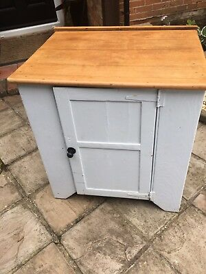 Victorian Pine Cupboard wooden top, painted sides.