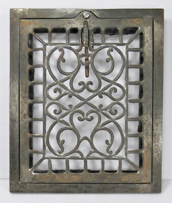 Antique Victorian Cast Iron Steel Register Wall Grate Vent Grille Fits 8x10