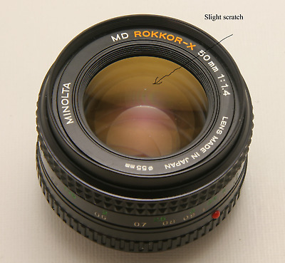 Minolta 50mm f 1.4 Rokkor-X in Very Good Condition