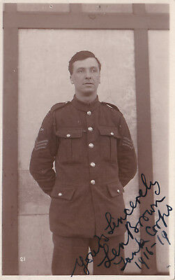 RP Signed Sincerely Len Brown, Tank Corps, 1916-19.