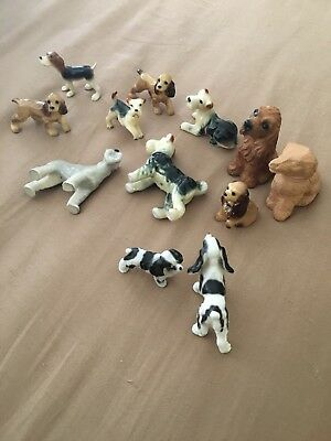 Lot Of Vintage Miniature Ceramic Spaniel And Terrier Dog Figurines