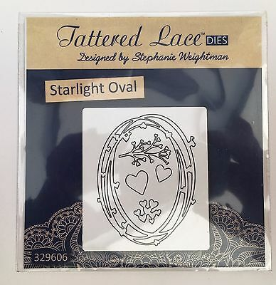 Tattered Lace Starlight Oval cutting die - Filigree Oval - hearts - branch