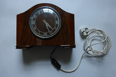 Vintage Early Smiths Sectric Mantel Clock Working Condition