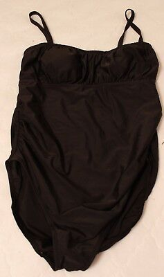 EUC Women's Maternity Black One Piece Swimsuit, Old Navy, Size Medium