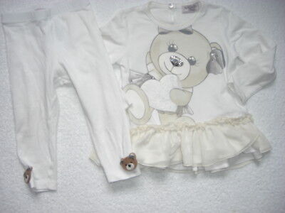 monnalisa girls teddy outfit age 18 months