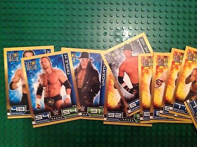 wwe slam attax 10th edition FLASH BACK cards