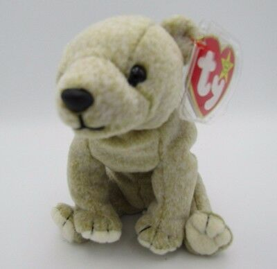 Ty Beanie Almond Bear Baby Babies 1999 Retired Plush Tag Original w Tags
