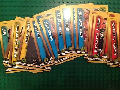 wwe slam attax 10th edition TAG TEAMS cards